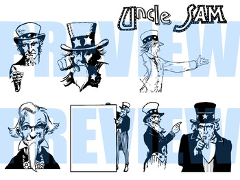 Uncle Sam Line Art