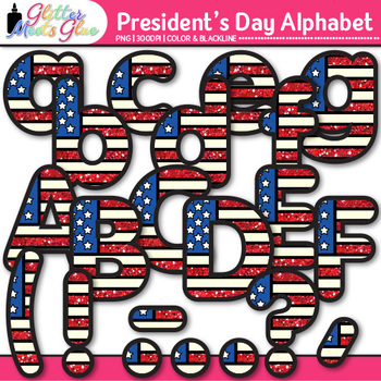 President's Day Alphabet Clip Art {Great for Classroom Decor & Resources}