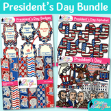 President's Day Clip Art Bundle | Scrapbook Paper, Alphabet, & Frames