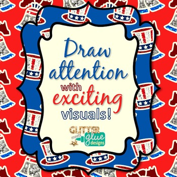 President's Day Frames Clip Art {Uncle Sam Labels for Classroom Resources}