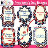 President's Day Frames Clip Art {Uncle Sam Labels for Clas