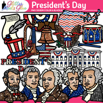 President's Day Clip Art {Declaration of Independence, United States Map, Eagle}