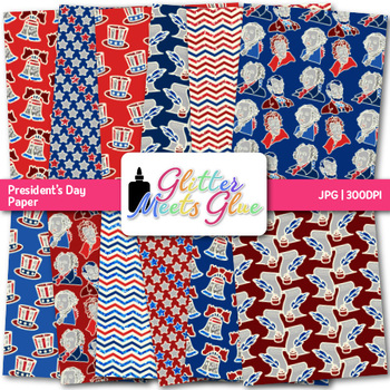 President's Day Paper {Scrapbook Backgrounds for Election Day Activities} 1