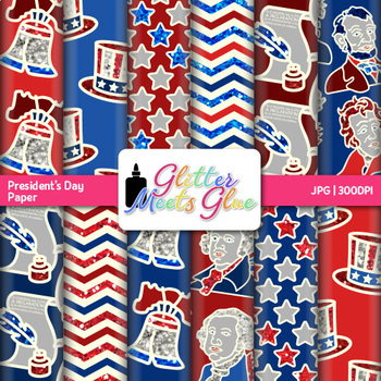 President's Day Paper {Scrapbook Backgrounds for Election