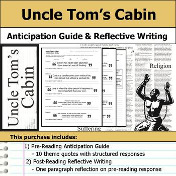 Uncle Tom's Cabin - Anticipation Guide & Reflection