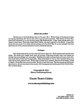 Uncle Tom's Cabin 10 Chapter Reader