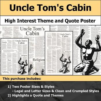 Uncle Tom's Cabin - Visual Theme and Quote Poster for Bulletin Boards