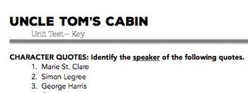 Uncle Tom's Cabin Test