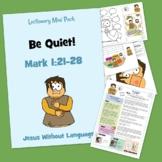 Unclean Man / Be Quiet! - Mark 1 - Kidmin Lesson & Bible Crafts