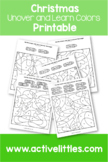 Uncover and Learn Colors Printable - Active Littles