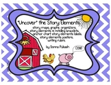 """Uncover"" the Story Elements-Story Maps,Graphic Organizers,Retelling Bracelets"