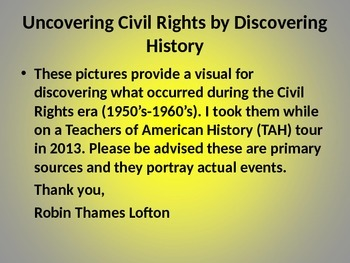 Uncovering Civil Rights by Discovering History