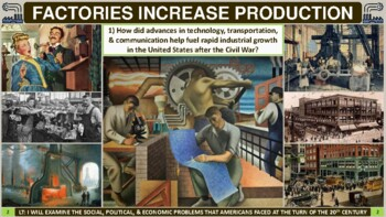 Uncovering Problems at the Turn of the 20th Century Activity for U.S. History