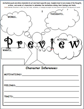 Uncovering character motivations, feelings, and traits