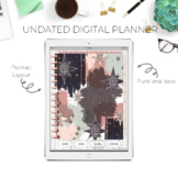 Undated Portrait Digital Planner for IPad, GoodNotes, etc - Starry Starry Night