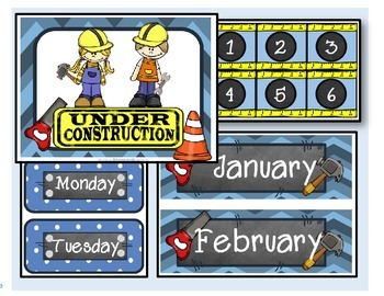 Under Construction / Calendar (blue)