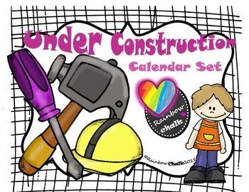 Under Construction / Calendar (blue)