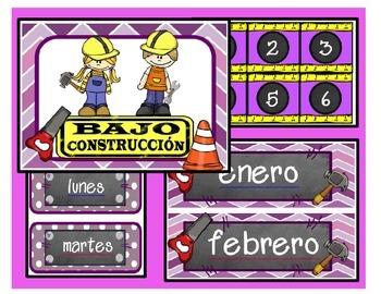 Under Construction / Calendario (morado)