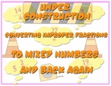 Under Construction: Converting Fractions from Mixed Numbers to Improper