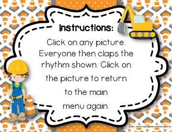 Under Construction! Interactive Rhythm Practice Game - Ta Rest