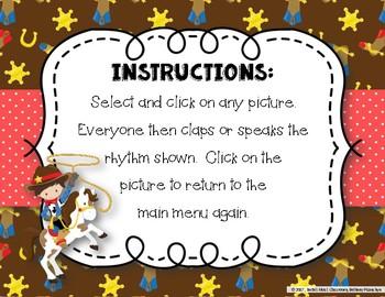 Lasso Some Rhythms! Interactive Rhythm Practice Game - Ta and Ti-ti