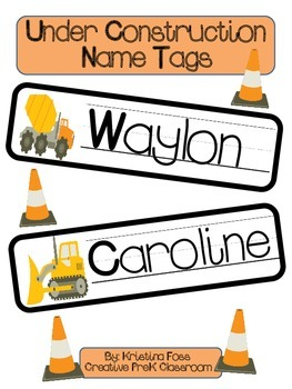 Under Construction Name Tags