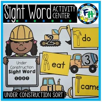 Sight Word Center {Under Construction Sort}