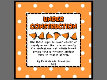 Under Construction - Signs for Open House and Back to School