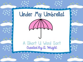 Under My Umbrella Short U Word Sort