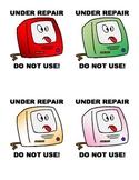 """Under Repair"" Computer Sign"