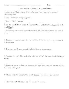 Under The Lemon Moon Book Activities