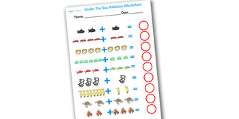 Under The Sea Addition Sheet