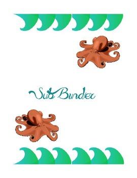 Under The Sea Binder Set
