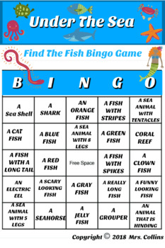 Under The Sea Bingo