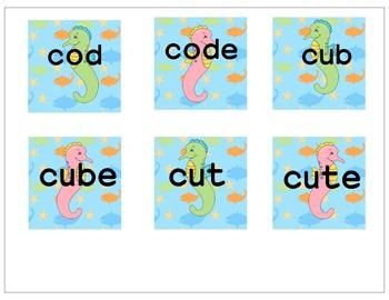 Under The Sea -  CVC and CVCe contrast words