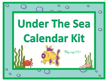 Under The Sea Calendar Kit