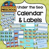 Under The Sea Calendar & Labels