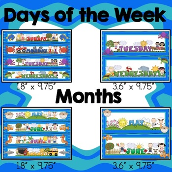 Under The Sea Calendar Numbers, Months, Days, Seasons