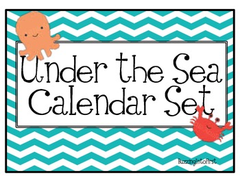 Under The Sea Calendar Set