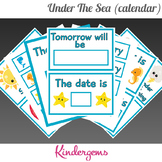 Under The Sea Classroom Calendar Instant Download PDF; Pre