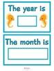 Under The Sea Classroom Calendar Instant Download PDF; Pre