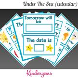 Under The Sea Classroom Calendar Instant Download PDF; Preschool, Kindergarten