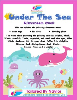 Under The Sea Classroom Items