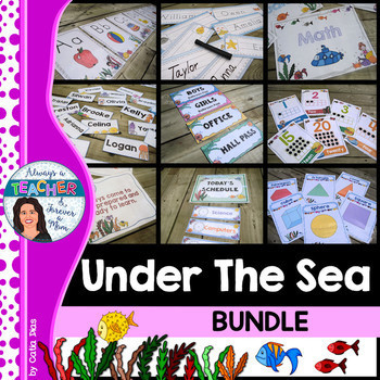 Under The Sea Classroom Theme Bundle With Editable Pages