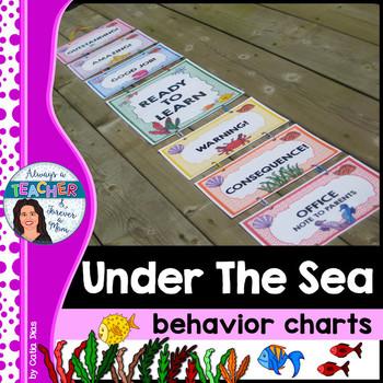 Under The Sea Classroom Theme Behavior Chart With Editable Name Tags