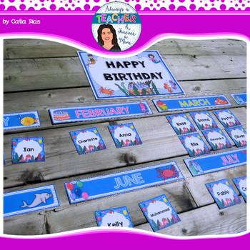 Under The Sea Classroom Theme Birthday Decor With Editable Name Tags 1...