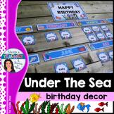 Under The Sea Classroom Theme - Birthday Decor with EDITAB