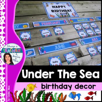 Under The Sea Classroom Theme - Birthday Decor