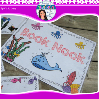 Under The Sea Classroom Theme - Center Signs with EDITABLE pages