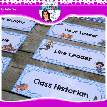 Under The Sea Classroom Theme - Classroom Jobs with EDITABLE pages
